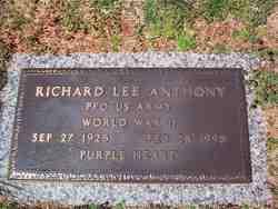 PFC Richard Lee Anthony