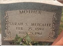 Sarah Jane Sallie <i>Searcy</i> Metcalfe