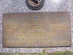 PFC Cecil Newton Taylor