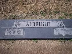 Ann <i>Woodard</i> Albright
