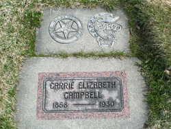 Caroline Elizabeth Carrie <i>Sparks</i> Campbell