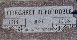 Margaret M <i>Morton</i> Fondoble