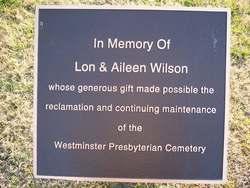Westminster Presbyterian Church Cemetery