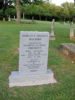 Rebecca E <i>Crockett</i> Halford