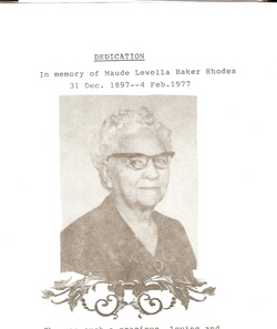 Maude Lewella <i>Baker</i> Rhodes