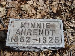 Wilhelmina C. Minnie Ahrendt