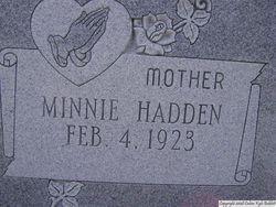 Minnie <i>Hadden</i> Edenfield