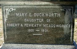 Mary Ellen <i>Meadowcroft</i> Duckworth