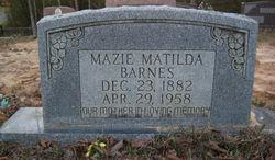 Mazie Matilda <i>Campbell</i> Barnes