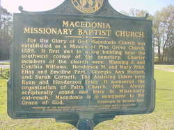 Macedonia Missionary Baptist Church Cemetery
