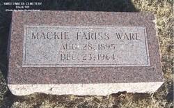 Mackie Magaline <i>Fariss</i> Ware