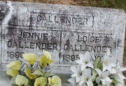 Jennie <i>Nevels</i> Callender