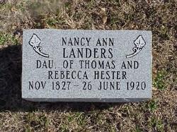 Nancy Ann <i>Hester</i> Landers
