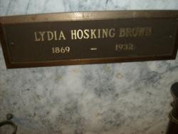 Lydia <i>Hosking</i> Brown