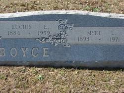 Lucius E Boyce