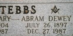 Abram Dewey Abe Tebbs