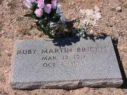 Ruby Dale <i>Martin</i> Brickey