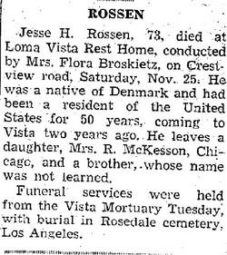 Jesse H. Rossen