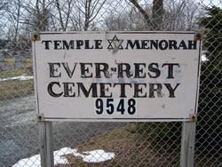 Temple Menorah Ever Rest Cemetery
