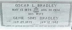 Cynthia Eugenia Genie <i>Sims</i> Bradley