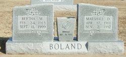 Marshall D Boland