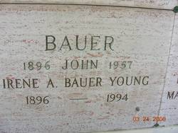 Irene A <i>Young</i> Bauer