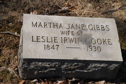 Martha Jane <i>Gibbs</i> Cooke