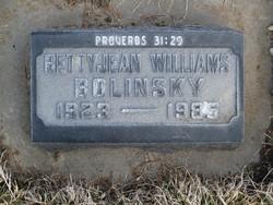Betty Jean <i>Williams</i> Bolinsky