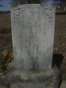 Sarah Lavina <i>Thweatt</i> Hildreth