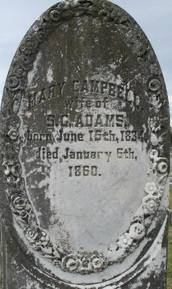 Mary <i>Campbell</i> Adams
