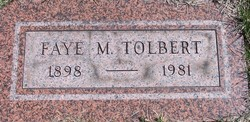 Faye M Tolbert