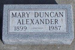 Mary Duncan Alexander