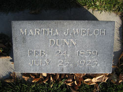 Martha Jane <i>Welch</i> Dunn