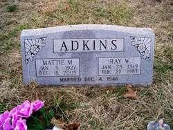 Mattie Mae <i>Jordan</i> Adkins