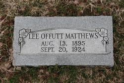 Lee <i>Offutt</i> Matthews