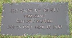 Fay <i>Cowley</i> Acuff