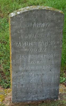 Sarah Jane <i>Rush</i> Ackley