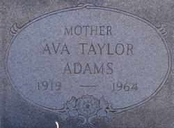 Ava <i>Taylor</i> Adams
