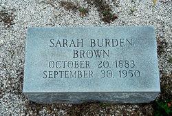 Sarah <i>Burden</i> Brown