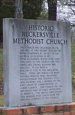 Ruckersville United Methodist Church Cemetery
