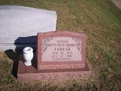 Betty Ruth <i>Shores</i> Farrar