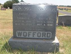 Hattie Elizabeth <i>Cagle</i> Wofford