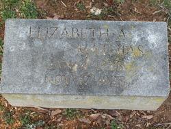Elizabeth A <i>McCurdy</i> Mathias