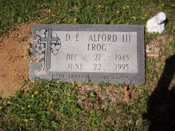 Alford D. E. Frog Alford, III