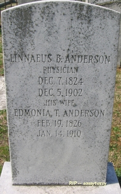 Dr Linnaeus Boerhaave Anderson