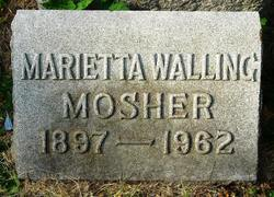 Marietta Marshall <i>Walling</i> Mosher
