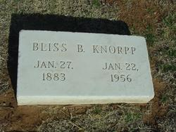 Bliss <i>Bugbee</i> Knorpp