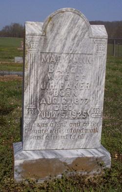 Mary Ann <i>Upshaw</i> Baker