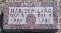 Marilyn Lang