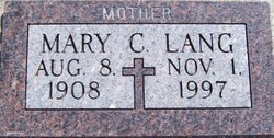 Mary C <i>Staab</i> Lang